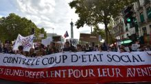 French left stages street showdown over Macron reforms