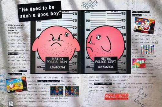 This is why Kirby looks angry on US box art