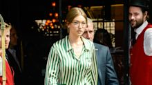 Gigi Hadid Stepped Out in Striped Pajamas and Looked So Chic (and Comfy!)