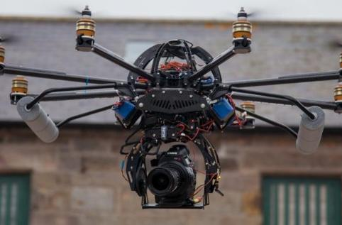 Canon C300 takes to the sky, hopefully still under warranty