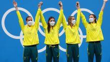 Olympics-Swimming-Australia take third straight 4x100m freestyle relay gold