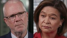 Former ABC chair Justin Milne denies 'icky' touching of sacked Michelle Guthrie