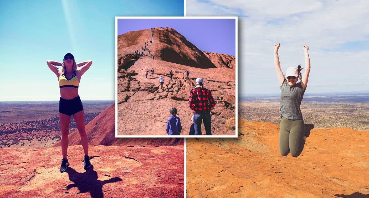 Uluru 'craziness' as thousands rush to climb rock before ban begins