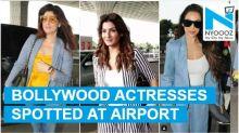 Twinkle Khanna, Raveena Tandon, Malaika Arora; Actresses spotted at Mumbai airport