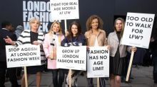 Should models be older? Ageism protest causes a stir at London Fashion Week