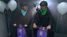 James Corden takes on Matt LeBlanc in scooter race
