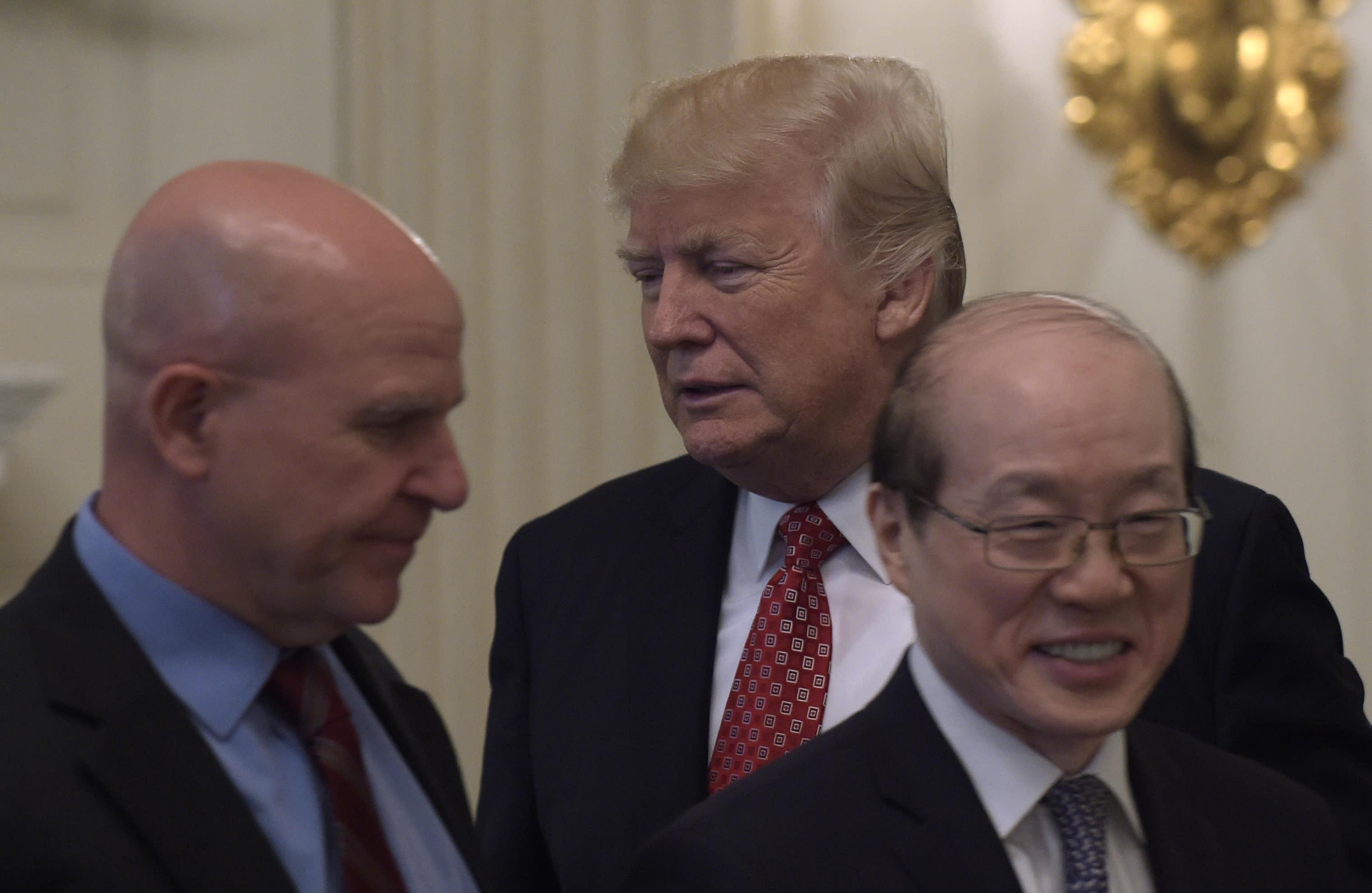 Hasil gambar untuk 5:30PM: President Trump meets with National Security Advisor H. R. McMaster