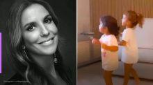 Ivete Sangalo flagra filhas gêmeas dançando sua música
