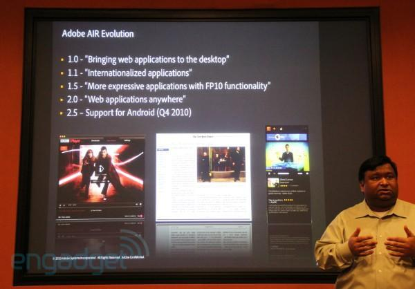 Adobe AIR 2.5 coming to Android in Q4 2010, but only to capable phones
