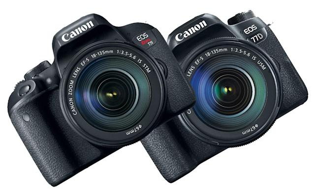 Canon's latest DSLRs are the EOS 77D and Rebel T7i
