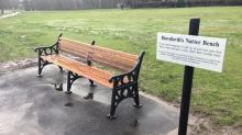 'Natter bench' installed to allow lonely people to talk while socially distanced