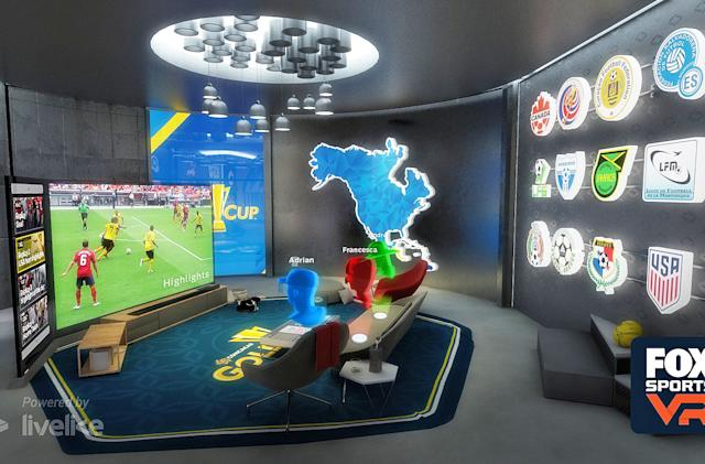 Fox Sports brings its 'virtual suite' to Gold Cup VR broadcasts