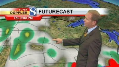Video Forecast: Scattered Storms Overnight