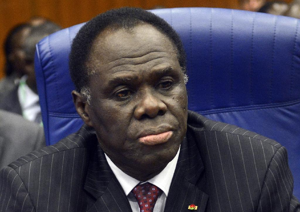 Burkina Faso Interim President Michel Kafando attends the Summit of ECOWAS heads of state and government in Abuja on December 15, 2014