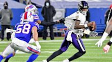 Ravens lose Lamar Jackson to concussion in playoff loss in Buffalo