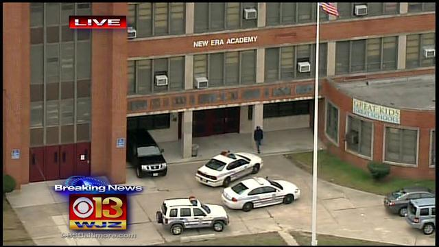 Police On Scene Of Pepper Spray Incident At Baltimore School