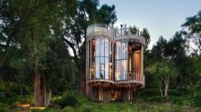 This treehouse-like home is stunning inside and out