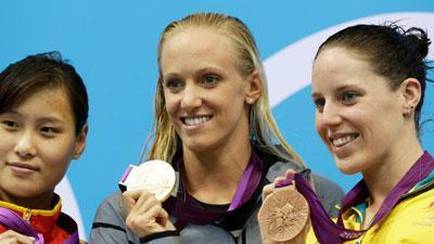US swimmers capture medals in London