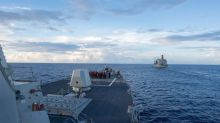 U.S. warship drill meant to defy China's claim over artificial island: officials