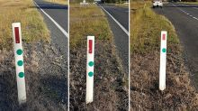 'Great initiative': Meaning behind green dots on the side of highways