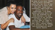 Kim Kardashian's extraordinary statement on Kanye West's mental health