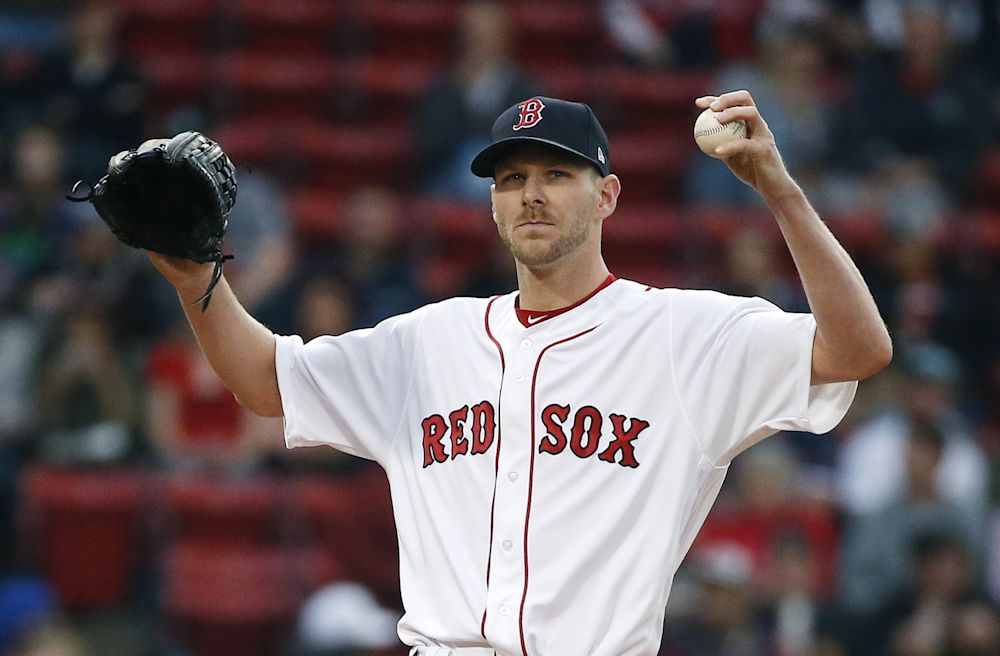 Chris Sale is mixing up his pitches like never before and batters can't figure him out. (AP Photo/Michael Dwyer)