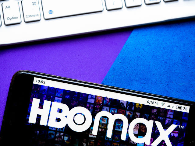 HBO Max title on a phone