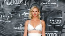 Charlize Theron Wears a Bra as a Top to 'Atomic Blonde' Premiere