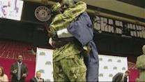 Navy Mom Surprises Son at His High School Graduation