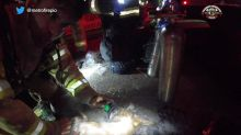 Firefighters Revive Dog Using CPR