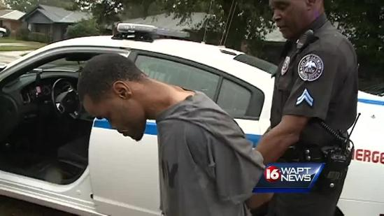 Robbery suspect arrested near police academy