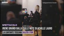 Irene Grandi balla sulle note di Achille Lauro