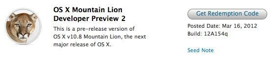 Mountain Lion Developer Preview 2's new features detailed