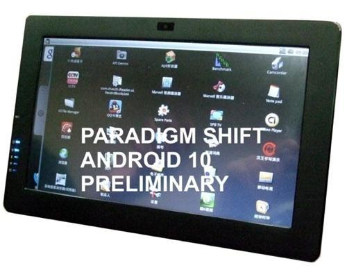 Paradigm Shift joins the tablet crowd with Android-based EMT-10AB/W