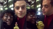 Rami Malek says he's 'happy' to have pictures taken after video of him turning down fan goes viral