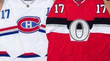 Canadiens, Senators unveil NHL 100 Classic sweaters