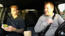 Justin Bieber Solves Rubik's Cube While Doing 'Carpool Karaoke'