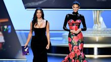 Twitter users divided over Kendall Jenner's bizarre latex Emmys outfit