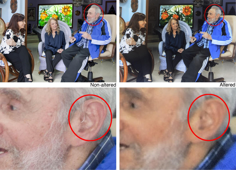 Las fotos retocadas de Fidel Castro