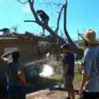 Tree Surgeons Work to Remove Debris in Panama City After Hurricane Michael