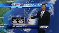 Tropical Storm Gabrielle returns; Humberto gains strength
