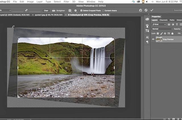 Adobe Photoshop adds Content-Aware Crop and font suggestions