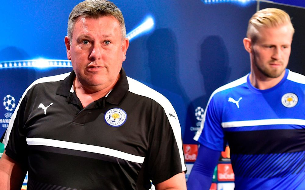 Craig Shakespeare (left) keeps having to field questions about Claudio Ranieri - AFP