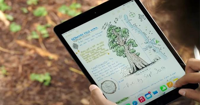The 8th-generation Apple iPad.