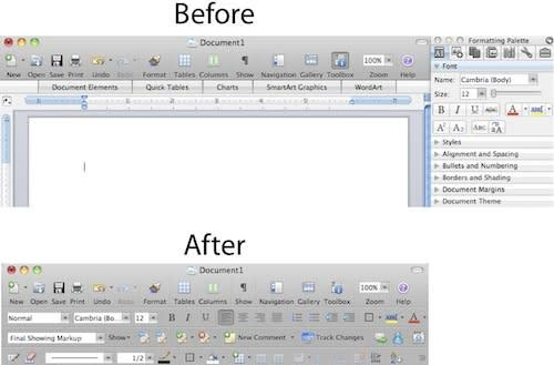 Making Microsoft Office on the Mac look more PC-like