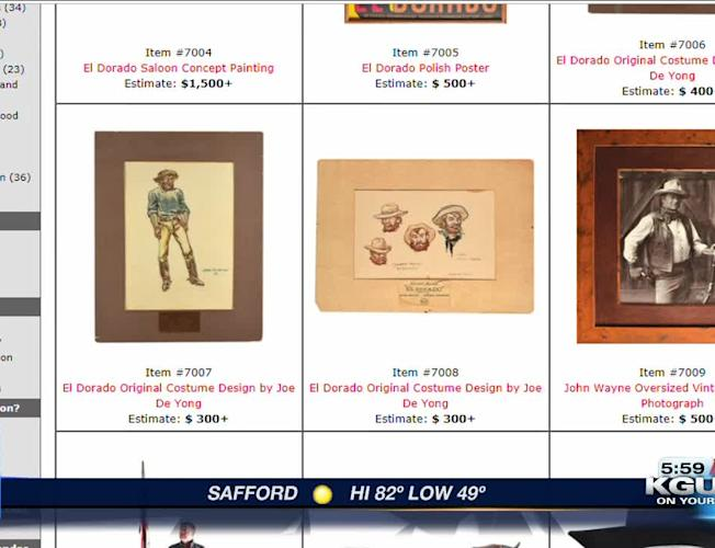 Old Tucson founder's items for sale at Hollywood Auction