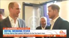 Prince Harry has formally asked William to be his best man