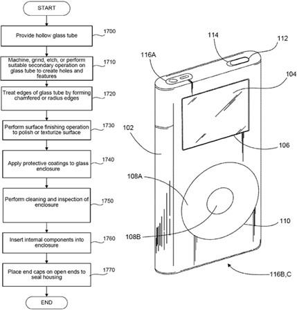 Apple patent app portends gadgets made of glass