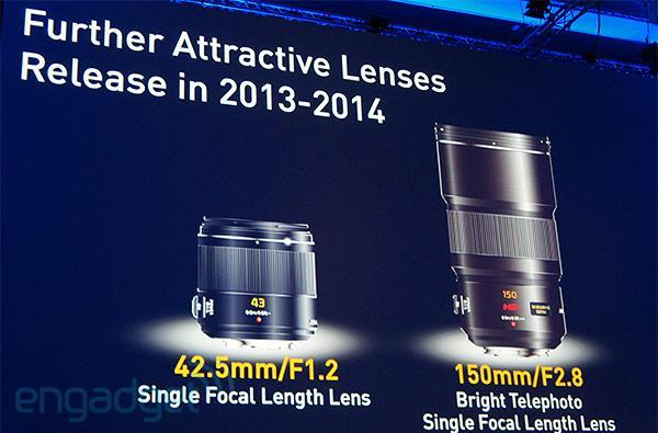 Panasonic teases 42.5mm f/1.2 and 150mm f/2.8 MFT lenses, slated for release by 2014