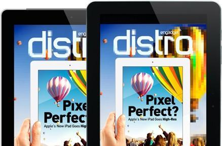 Distro Issue 33 takes on Apple's new iPad -- Now in HD!